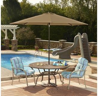 Mirage 9-ft Octagonal Market Umbrella w/ Auto-Tilt in Sunbrella Acrylic