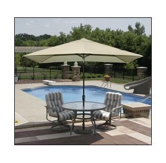 Adriatic Autotilt Market Umbrella (6.5'x10' Rectangle)