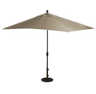 Caspian 8-ft x 10-ft Rectangular Market Umbrella in Sunbrella Acrylic