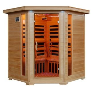 TUCSON - 4 Person Corner Sauna with Carbon Heaters