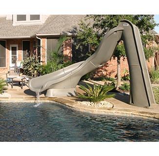 TurboTwister™ Pool Slide brick house pcpools