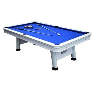 Alpine 8-ft Outdoor Pool Table with Aluminum Rails & Waterproof Felt