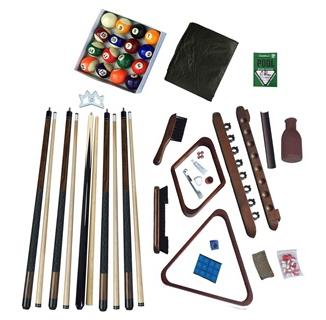 Deluxe Billiards Accessory Kit Walnut