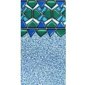 Glazed Tile Overlap Pool Liner Heavy Gauge