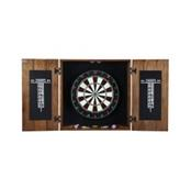 Drifter Solid Wood Dartboard & Cabinet Set - Rustic Oak