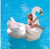 Elegant Giant Swan 72-in Inflatable Ride-On Pool Float