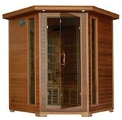 WHISTLER - 4 Person Cedar Infrared Sauna with Carbon Heaters - Corner Unit