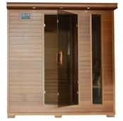 GREAT BEAR - 6 Person Cedar Infrared Sauna with Carbon Heaters